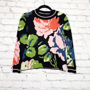 Monogram Anthropologie | Laine Floral Sweater | XS
